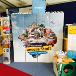 Ausstellung am Infostand Zukunftsstadt
